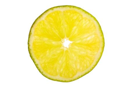 half cut: Close-up of a half cut lime.