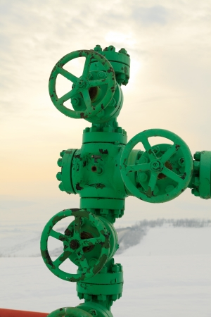 methane: Fossile gas - methane - pipe conduct closeup. Stock Photo