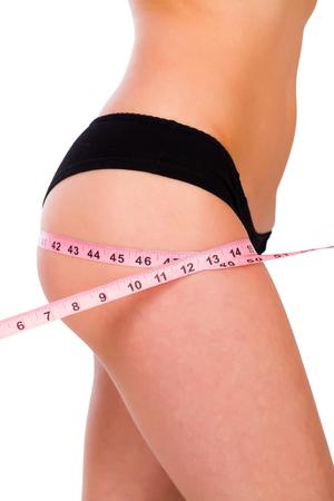 culo di donna: Bel culo rotondo di una signora in forma in mutandine balck.