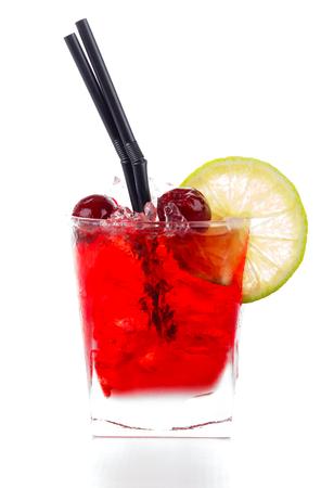 sours: Cherry amaretto sours with almond liqueur, lemonade and cherry juice.