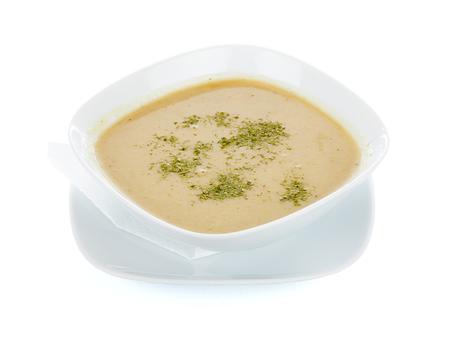 cebolla: Sopa crema de cebolla sabrosa con especias. Foto de archivo