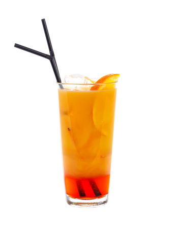 bitter orange: A special cocktail with orange juice and orange slices and bitter alcoholic drink.