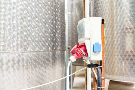 fermentation: Electric outlet for fermentation tanks for wine - power supply.