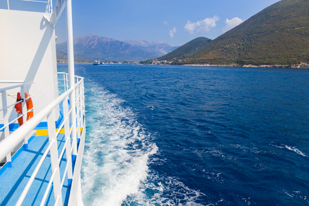 ferryboat: The view from the ferry from the main land to Kefalonia.