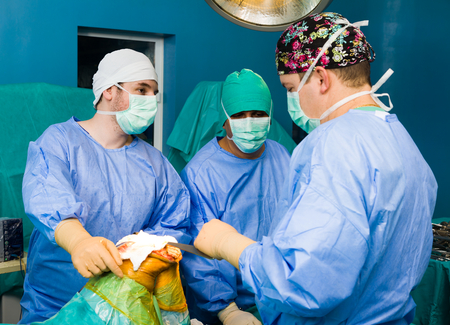 intervention: Focusing surgeons during intervention in the ER, performing surgery.