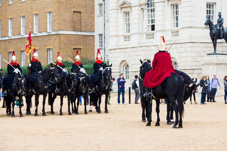 behind the scenes: An event that celebrates the history and accomplishments of The Household Cavalry offering a unique behind the scenes look at the work that goes into the ceremonial and armoured reconnaissance role of HM The Queens Mounted Bodyguard. Editorial