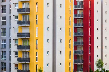 apartmant: New apartmant neighborhood s windows and balconies.