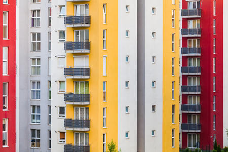 Freshly built apartmants being expecting families for housing. Stock Photo