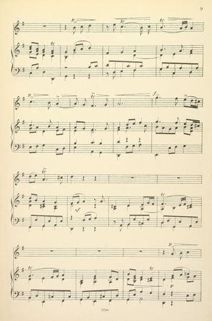 vocals: Old yellowed sheet music for piano and vocals, no lyrics Stock Photo