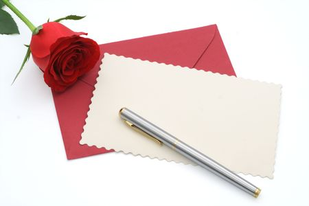 Blank valentines card with copy space for custom text - isolated (clipping paths) photo
