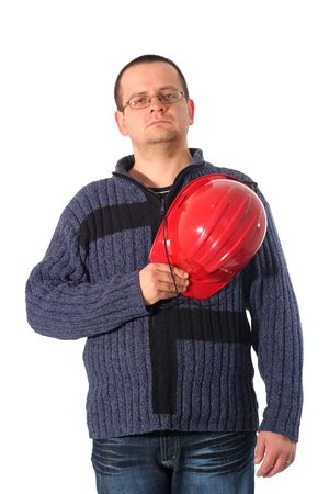 Proud construction engineer after a long and hard day at work Stock Photo - 789787