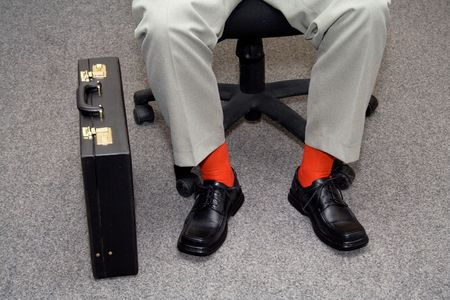 striking: Businessman with striking individuality - concept for new, unconventional business
