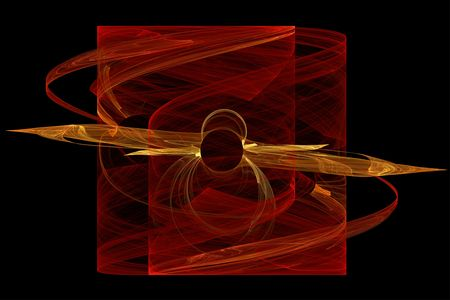 Solar flames - abstract background illustration on black illustration