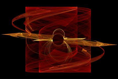 erupt: Solar flames - abstract background illustration on black
