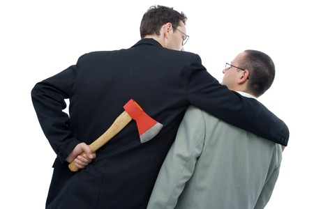 Business is not always fair play - ruthless business competition concept - isolated  Stock Photo