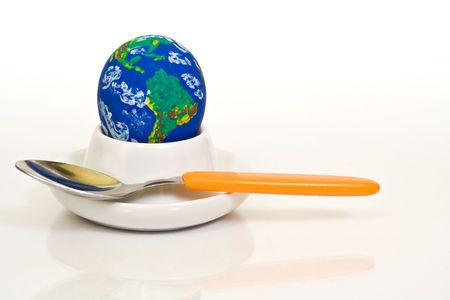Consuming earth - environmental, or world cuisine concept photo