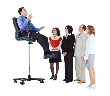 Business coach, trainer or leader concept - isolated Stock Photo