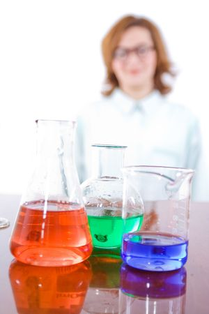 Chemical research and chemistry concept - isolated Stock Photo - 4716008