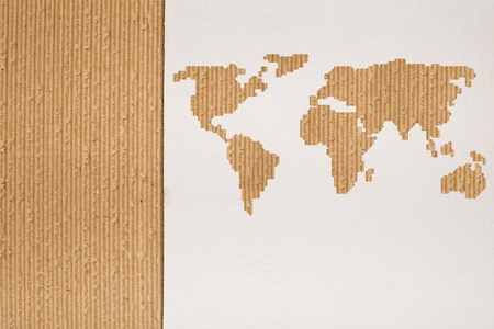 Cardboard background series - global shipping or transportation concept photo