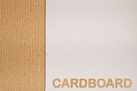 Corrugated cardboard background with copy space and fine texture Stock Photo - 8390608