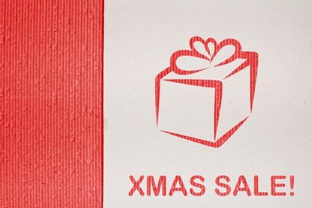 Corrugated cardboard background christmas sale illustration and fine paper texture illustration