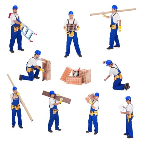 involved: Handyman or worker involved in different activities