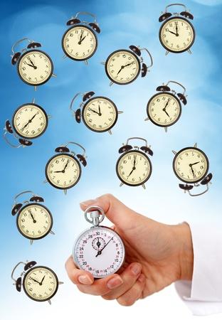 administraci�n del tiempo: Gesti�n del tiempo y el concepto de plazos - aislados Foto de archivo
