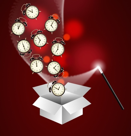 magic hour: Expert time management system concept - out of the box Stock Photo