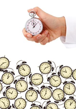 time pressure: Time management and deadlines concept - isolated