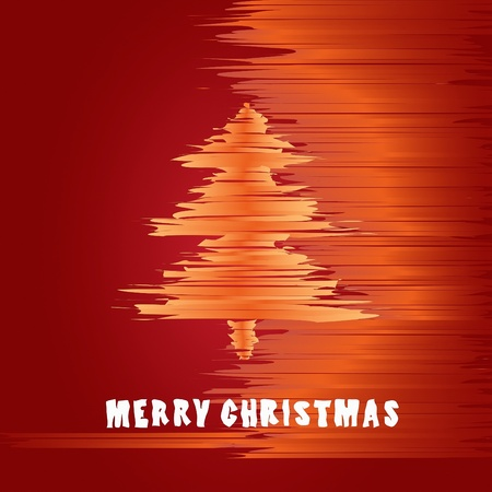 Christmas greeting card in warm colors of the holidays Vector