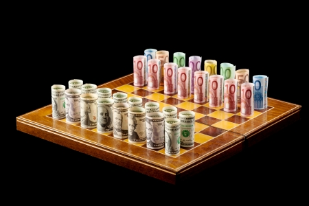 Money games - strategy and risk concept photo