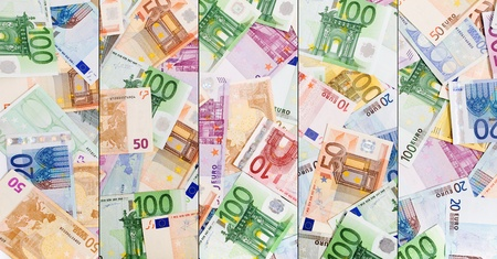 Abstract european euro currency background photo