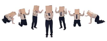 Business school concept - businessman evolution photo