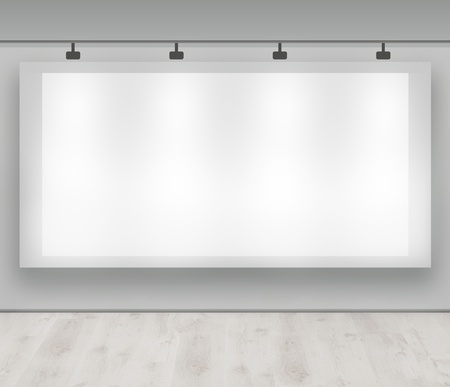 Advertise here - blank advertising banner photo