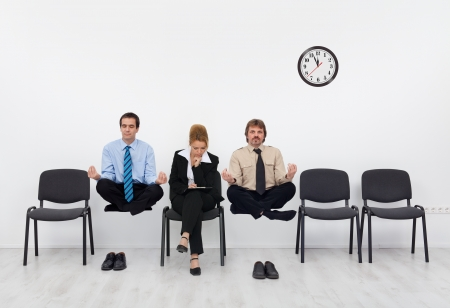 disadvantage: Waiting for the job interview - with a slight disadvantage, adult training importance concept