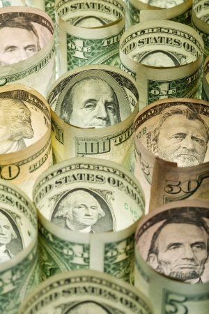 monetary concept: Monetary concept with american dollars - the council of presidents