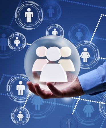Social networking concept - solution in your hands Stock Photo - 17931668
