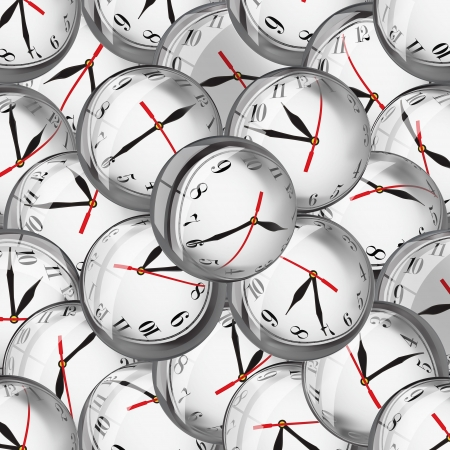 straggly: Clock faces in bubbles - deadlines and time management concept