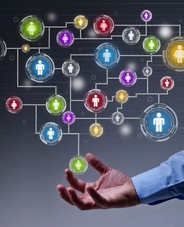 The leverage of social networking in business concept Standard-Bild