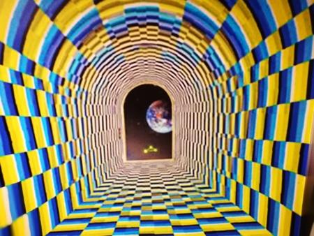 Hypnotische psychedelische virtuele cirkels