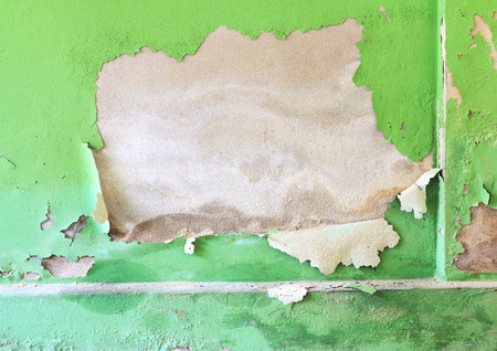 Background of old green color painted wall photo
