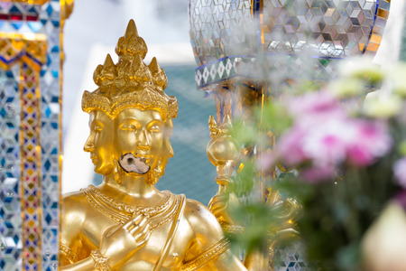 17 20: Bomb damage on Thao Maha Phrom, the Brahma statue after terror attack and bomb explosion in Ratchaprasong on August 17, 2015 Bangkok, Thailand Killing 20 people and injuries about more than 80 people.