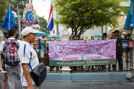 mourn: August 23, 2015 : The Brahma statue after terror attack and bomb explosion in Ratchaprasong on August 17, 2015 Bangkok, Thailand. Erawan shrine reopens again for victims family and people mourn. Editorial
