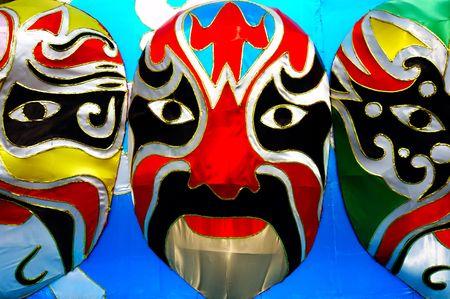 Chinese lantern model made of Beijing opera mask