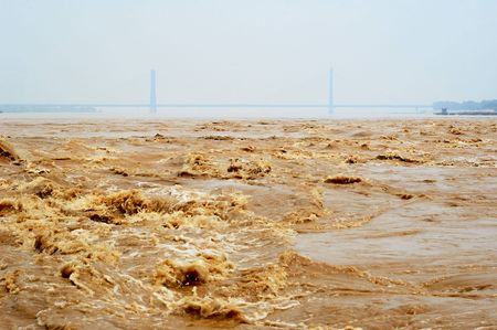 Lower reaches of  Yellow River(Huanghe River) Stock Photo - 3321343