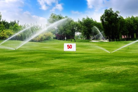 Golf course watering
