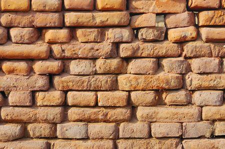 Old wall consist of bricks Stock Photo - 3321455