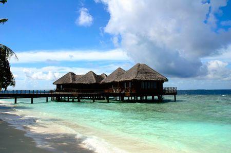 Seashore on an maldivian island Editorial