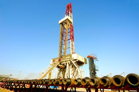 Land drilling rig in Shengli Oil Plant of China photo