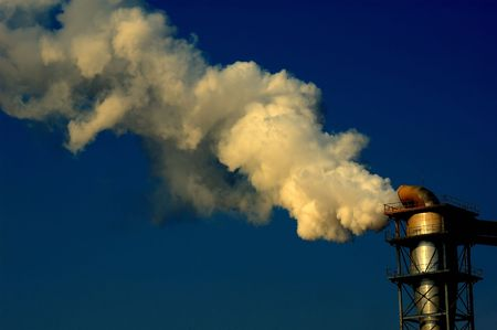 Polluting smoke coming out of chimney Stock Photo - 5550710